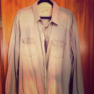 Men's jean Shirt By Arnold Zimberg New